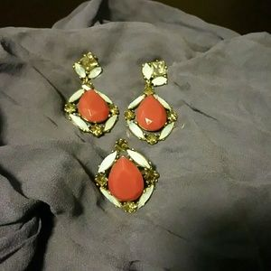 Earrings and matching ring size 8